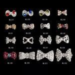 3D Bow SUPERIOR Alloy Jewelry Nail Art Decoration Glitter Rhinestones ML137-152