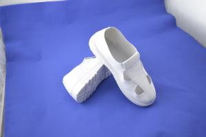 China Acid Resistant Women'S ESD Safety Shoes Four Hole White Canvas Shoes on sale