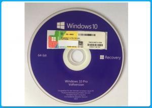China Genuine Microsoft Windows 10 Pro Software OEM  Box 64 Bit DVD / COA License Key on sale