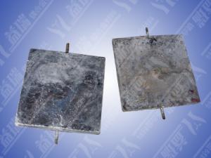 China Zinc anode sacrificial zinc alloy for cathodic protection on sale