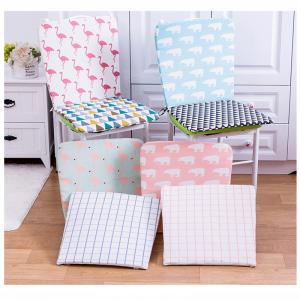 China Patterned Plush Bench Cushion , Soft Sponge Filling Thin Seat Cushions on sale