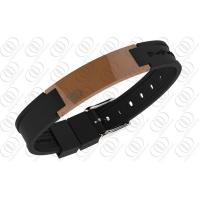 China Stainless Steel Magnetic Bracelets Brown Ceramic  2500 Gauss NdFeb Magnets on sale