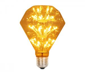 China Crystal Glass Diamond G95 E27 Bulb Led 3w Edison Decorative Light Bulbs on sale