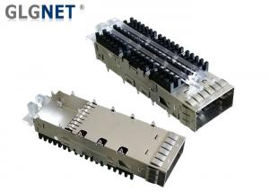 China Aluminum Heat Sink QSFP Cage Assembly One Port Light Pipes On Cage Top Surface on sale