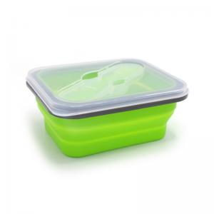 China 600ML Rectangle BPA Free Silicone Folding Bento Box on sale