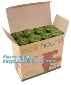 China Eco biodegradable dog poop bag for pet trash clean, Cheap eco dog poop bag, Eco Friendly waste bag Biodegradable dog poo supplier