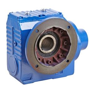 China Right Angle Helical Worm Gear Speed Reducer , S Series 90 Degree Gearbox on sale