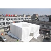 White 15x15M Inflatable Tent , Custom Made Led Inflatable Party Tent Cube For Event