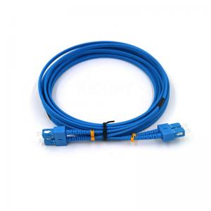 China Double SC/UPC G657A1 9/125 SM 1-50M FTTH Fiber Optic Cord on sale