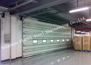 China Vertically Opening Transparent Doors with a Flexible Curtain Steel Buildings Kits Shutter Doors on sale