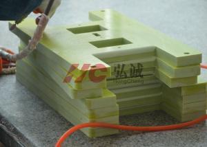 China Yellow GPO3 Fiberglass Sheeting Panels EN45545 Certified Low Water Absorption on sale