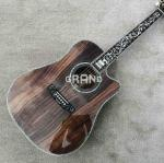 All Solid Koa Wood 45 D 41 Real Abalone Acoustic Electric Guitar with Ebony Fingerboard