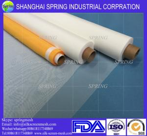 China High Tension Polyester Screen Printing Mesh Fabric Plain Weave Type Yellow / Black on sale