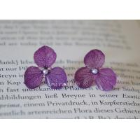 China Forever Love Hand-Made Craft Real Flowers Dry Hydrangea Cheap Silver Stud Earrings For Women on sale