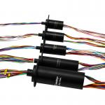 Capsule Slip Ring Series With Low Friction And Resistance, 2 Amps Per Circuit For Rotating Light Box