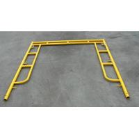 China Yellow Coated Low Carbon Walk Through Scaffolding Frames American Design 5x5 on sale