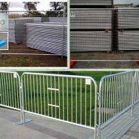 China temporary fence barricade on sale