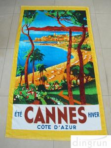 China Promotional Terry Custom Design Beach Towels Double Sided Colorful Printed on sale