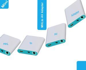 Lkv551 Mhl Micro Usb To Av Adapter Mobile Phone To Hdtv Converter