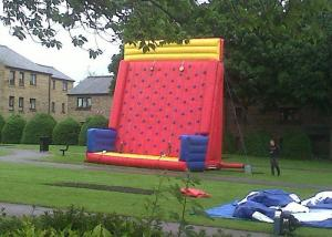 China Safety Sports Inflatable Rock Climbing Wall Rentals On The Land With PVC Material on sale