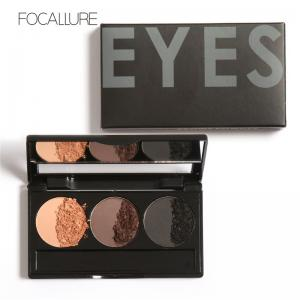 China Focallure Top Selling Products 2015 Waterproof Eyebrow Powder Kit Brow Makeup Set With Brushes on sale