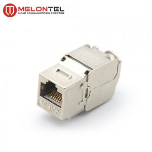 China Toolless Cat6 Rj45 Female Connector 8 Pin Phosphor Bronze Light Weight MT 5203 on sale