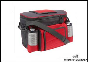 China Red Water Bottle Camo Cooler Bag Waterproof With Handle , Shoulder Strap on sale