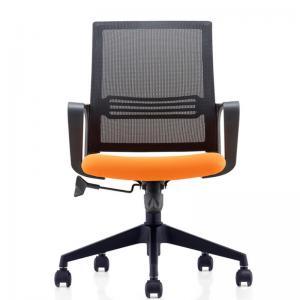 China Modern Staff Black Nylon Mesh Chair , Mid Back Office Furniture Swivel Chairs on sale