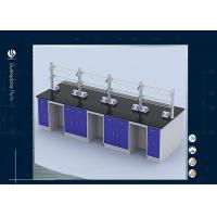 Epoxy Resin Worktop Educational Laboratory Furniture , Antimicrobial PU Foam Lab Storage Cabinets