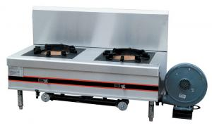 China 96KW Stainless Gas Stock Pot Range Two Burner For Commercial Kitchen DS-PRB-1470 on sale