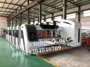 China HRB Pack High Definition Flexo Printer Slotter Die Cutter Corrugated Carton Box Machine on sale