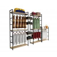 Modern Style Clothing Shop Display Racks Wall Mounted Clothing Rack For Shopping Mall