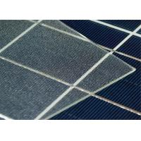 High Light  Transmittance Tempered Solar Glass / Low Iron Patterned Glass For Solar Cell