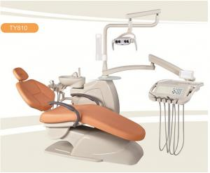China Orange Comfortable Portable Dental Chair Unit With Tissue Box on sale