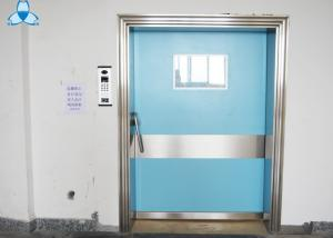 China Outside Powder Coated Hospital Air Filter Blue Color With Single Swing Door on sale