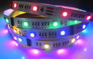 Quality White Red Green SMD 5050 Cove Flexible LED Strip Lights 12V / 24V 90 pcs/m for sale
