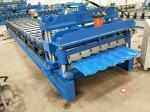China Roof And Wall Panel Glazed Tile Forming Machine PLC Control 5.5 KW Motor wholesale
