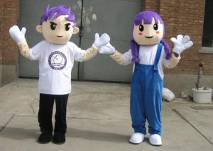 Quality custom made plush cartoon mascot cosplay costumes for adults for sale