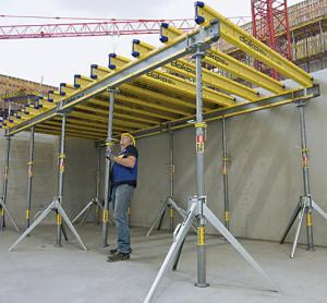 China Concrete slab floor table formwork scaffolding system , doka formwork system on sale