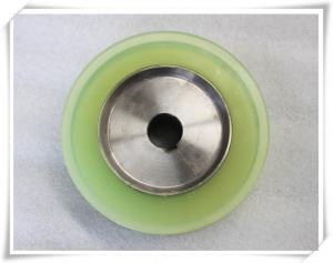 China Bisque Polyurethane Wheels Coating with Iron Core , Oil Resistant on sale