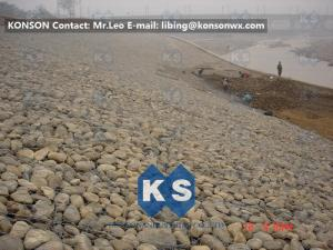 China Large Gabion Stone Cage Retaining Wall Guide Gabion Mattresses In Road?Building on sale