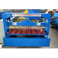 Galvanized Standing Seam Roofing Sheet Roll Forming Machine Blue Color Coated