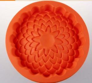 China luxury  silicone cake mold  , flower shape silicone cake mould ,silicone baking mould on sale