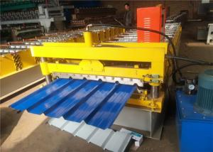 China 2018 Hot market Galvanized Color Steel Roof Panel Roll Forming Machine 8-12m/ Min LC Control on sale
