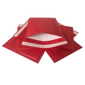 China Red Kraft Rigid Cardboard Envelopes Corrugated Padded 100% Recyclable Hot Melt Adhesive on sale