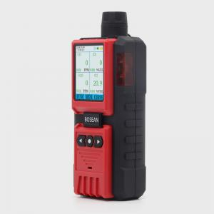 China Colorful LCD Display Multi Gas Detector With Pump , Gas Leak Alarm System on sale
