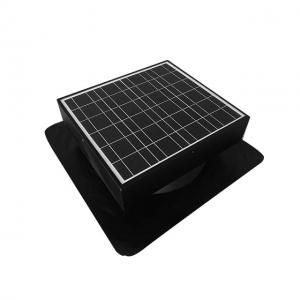 China 30watt 12inch Solar Powered Roof Ventilator with storage battery on sale