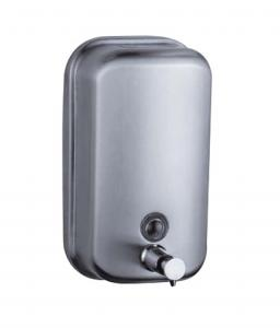 China Brushed Finish Manual 28Oz Wall Mounted Soap Dispenser on sale