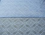 Geometric Royal Blue Cotton Nylon Lace Fabric Mesh For Nightwear SYD-0004