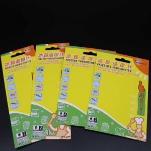 China Colourful Thermometer Perforated Bookmark Cardstock With One Aircraft Hole on sale